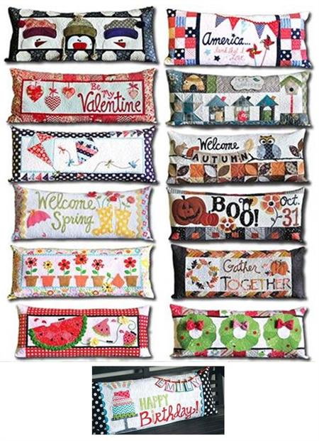 Kimberbell Bench Pillow Quilt Kit Includes 12 Seasonal